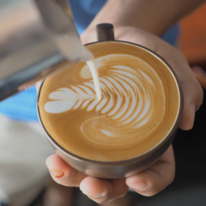 A latte is an espresso-based drink