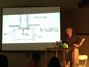 Alan Adler with Original AeroPress Sketch