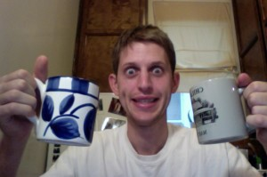 This is what I look like when I double fist coffee