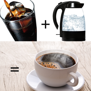 Making Hot Coffee with Cold Brew Coffee Concentrate
