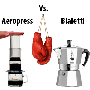 Coffeemaker Showdown 005: Bialetti Moka Pot vs. Aeropress
