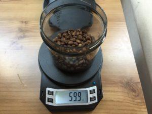 60 grams of coffee