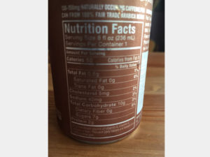 High Brew Double Espresso Nutrition Facts