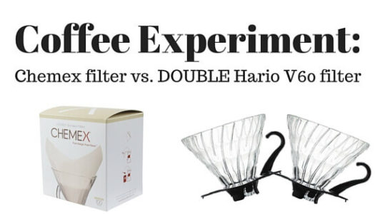 Coffee Experiment: Chemex Filters vs. Double Hario Filters Brewed in a Hario V60