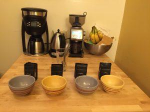 Coffee Cupping Setup