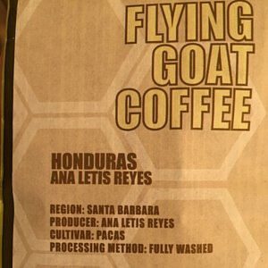 Flying Goat Coffee: Honduras Ana Letis