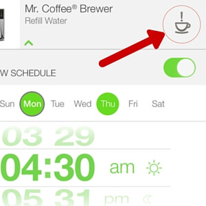 Mr. Coffee WeMo App Brew Button