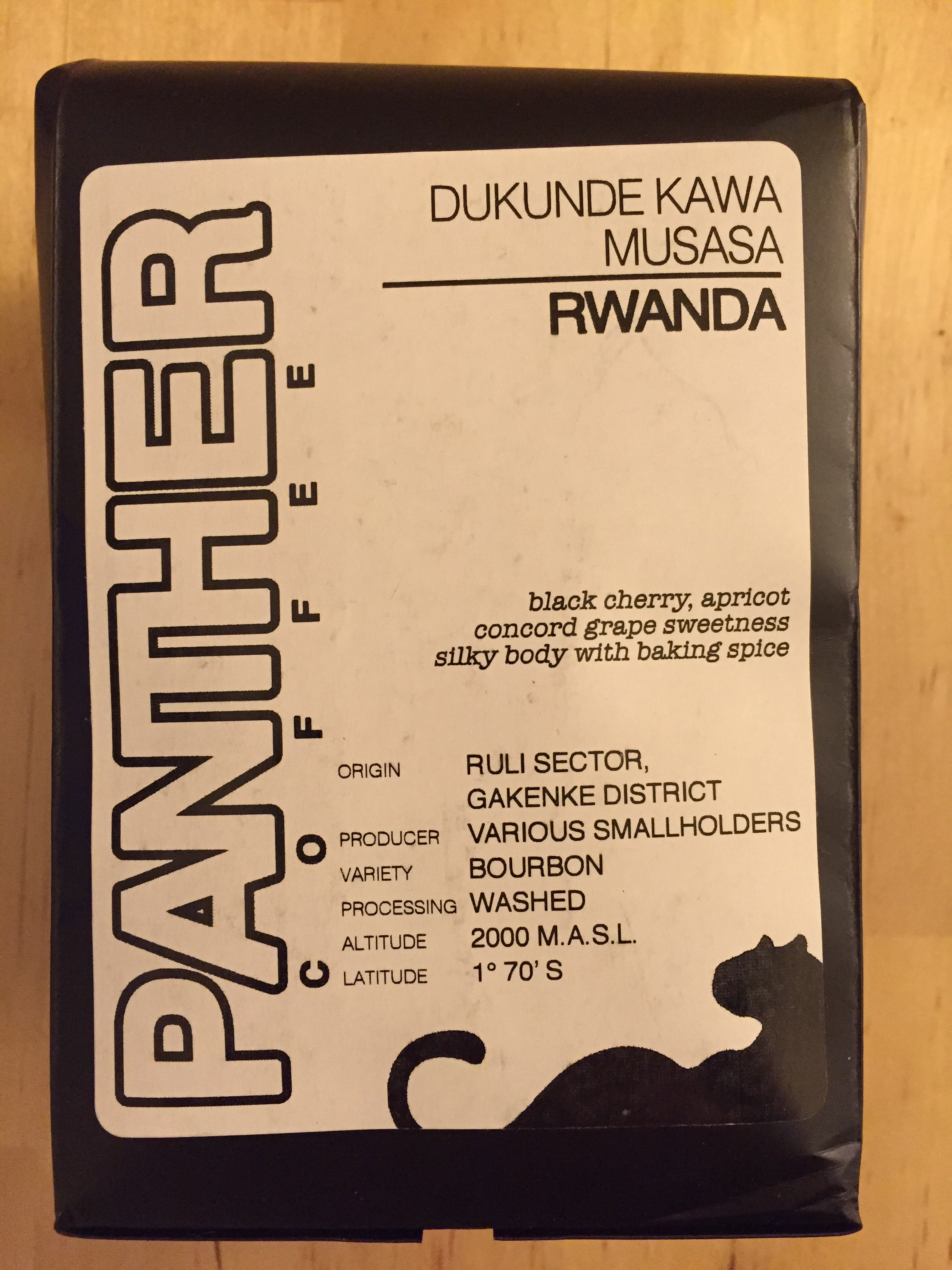 Panther Coffee - Rwanda Dukunde Kawa Musasa