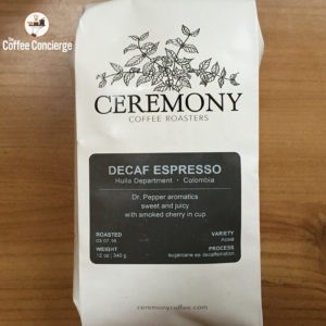 Ceremony Coffee Roasters Decaf Espresso