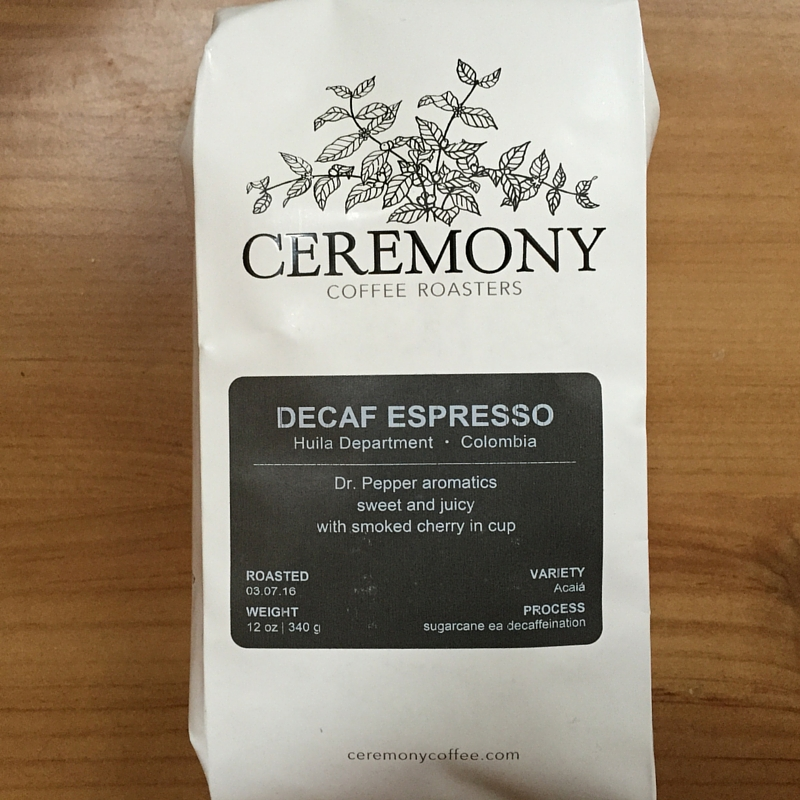 Ceremony Coffee Roasters - Decaf Colombia