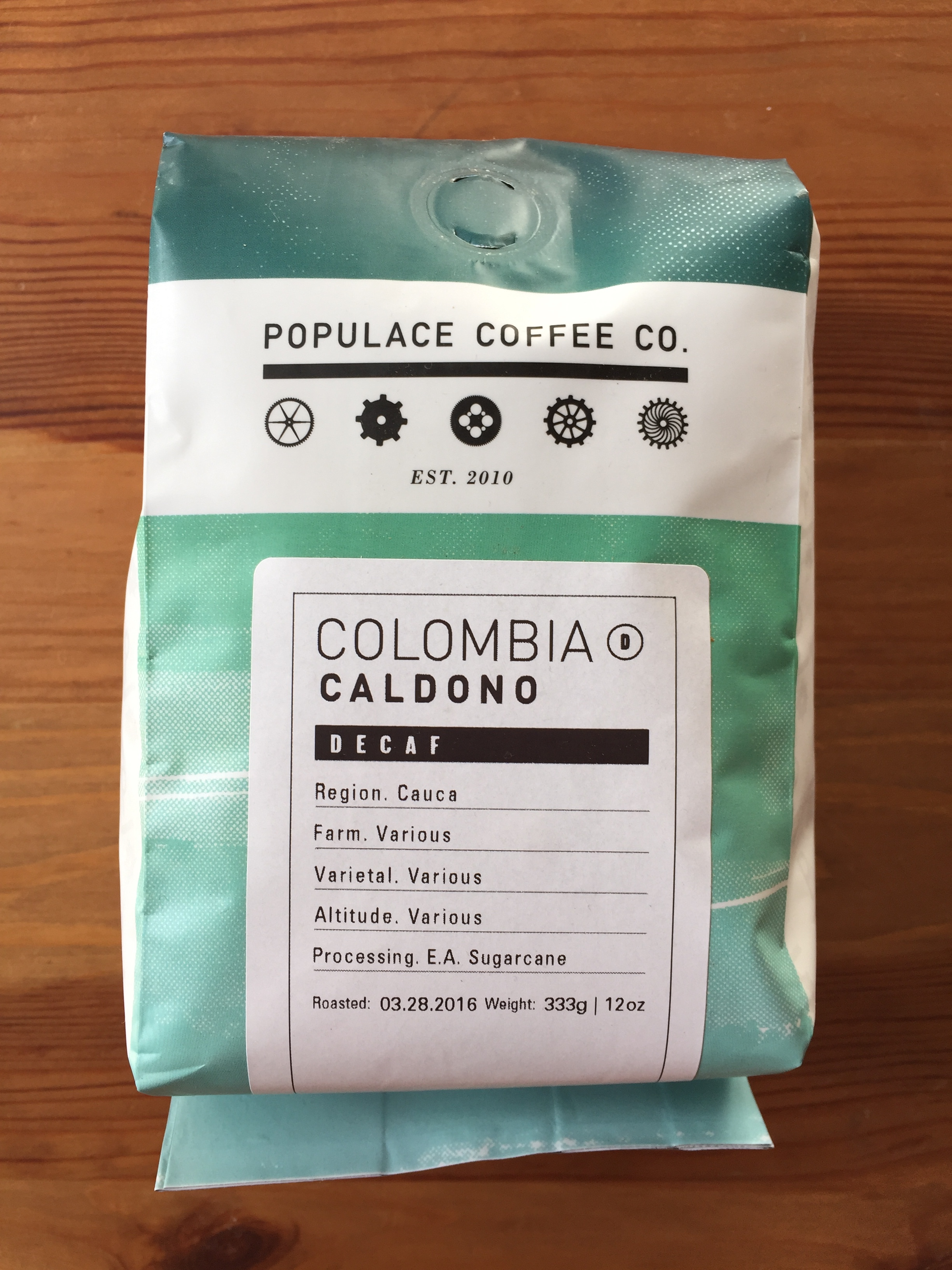 Populace Coffee - Decaf Colombia Caldono
