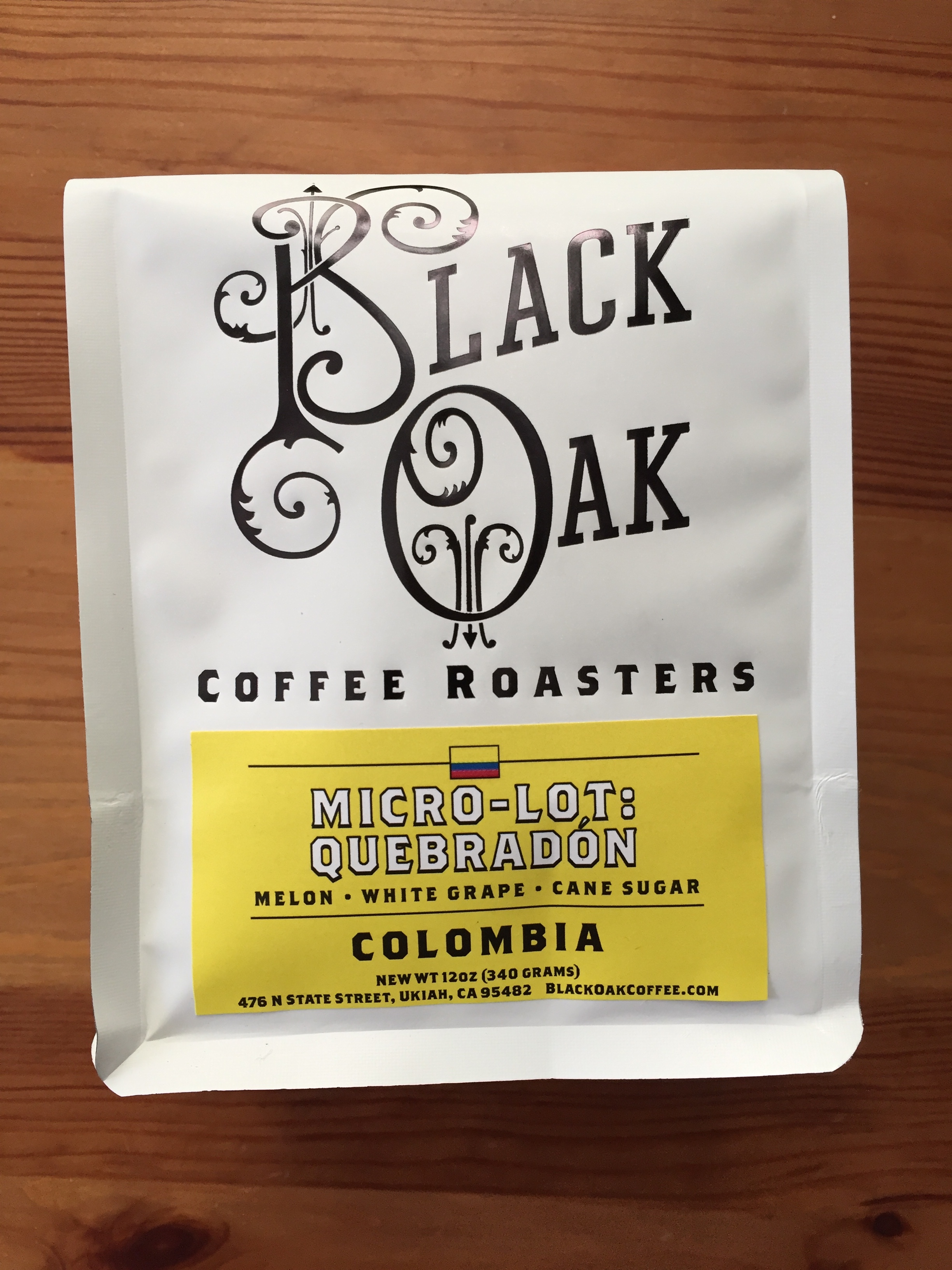 Black Oak Coffee Roasters - Colombia Micro-Lot Quebradón