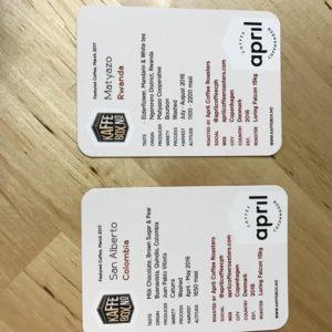 KaffeBox Coffee Info Cards