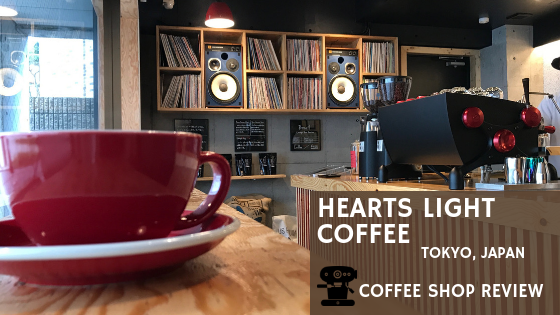 coffee shop hearts light coffee Tokyo Japan