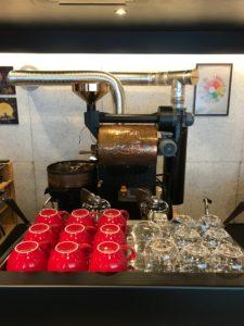 coffee roaster red cups Tokyo Japan