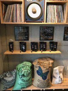 coffee bags vinyl records Tokyo Japan